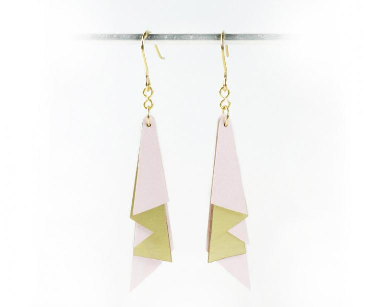 Jewelry artists, luxury economic paper earrings. Jewelry design for architects