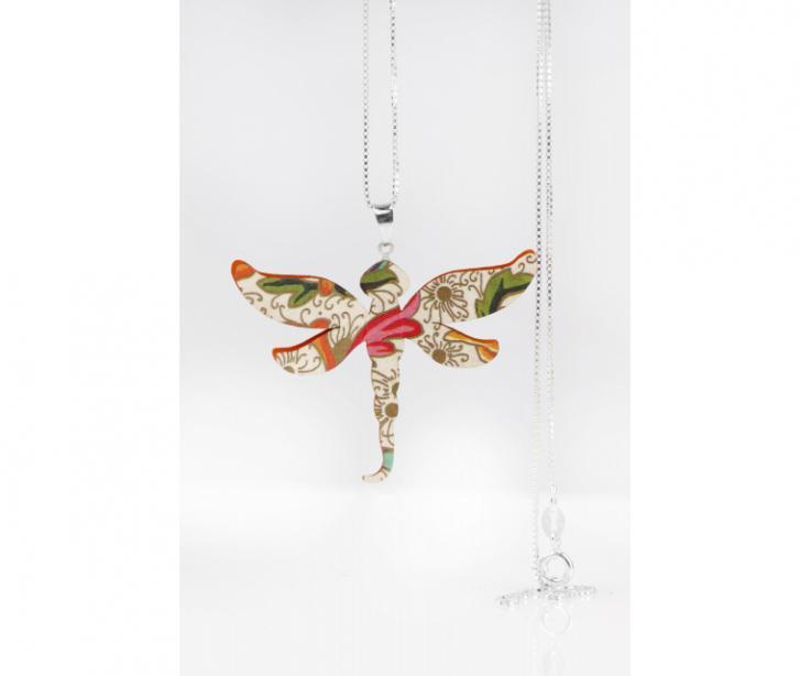 Colgante libélula original para mujer, vista frontal
