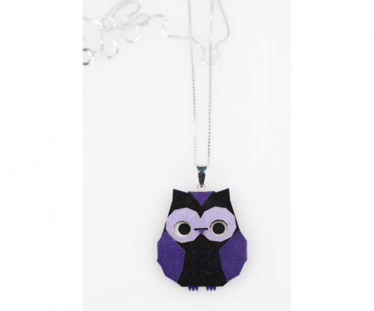 Purple origami owl pendant