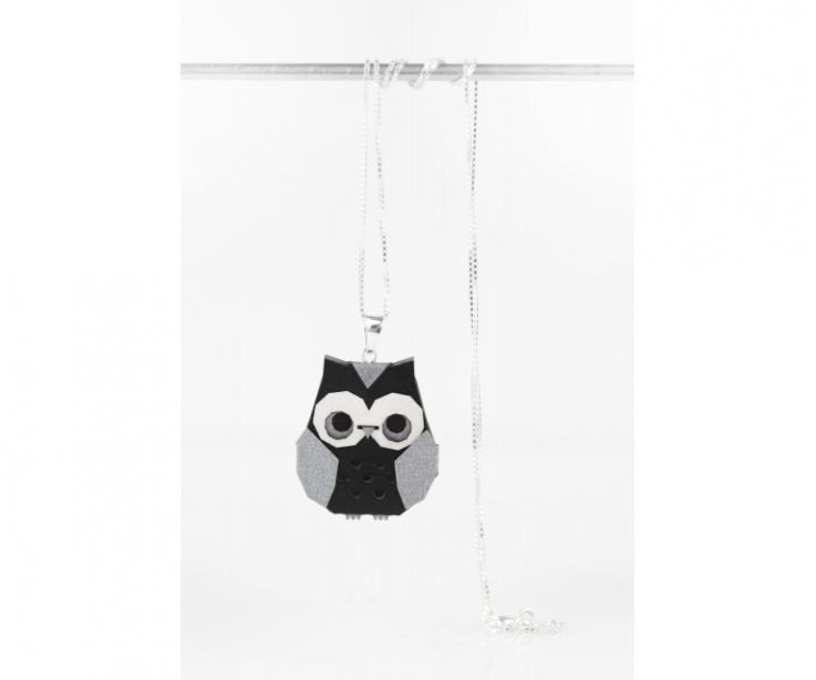 Silver origami owl pendant
