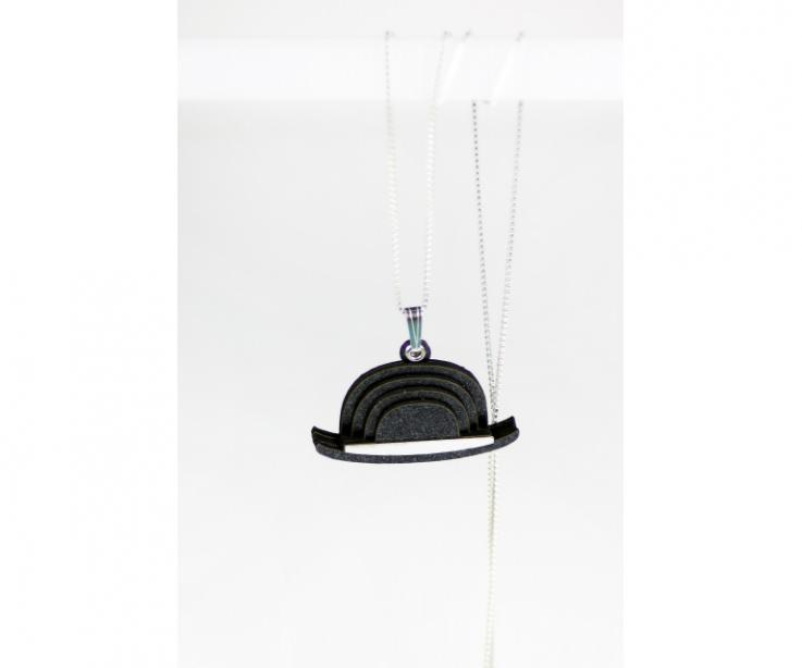 Author's jewellery that has designed a pendant based on the work of excellent surrealist painter René Magritte
