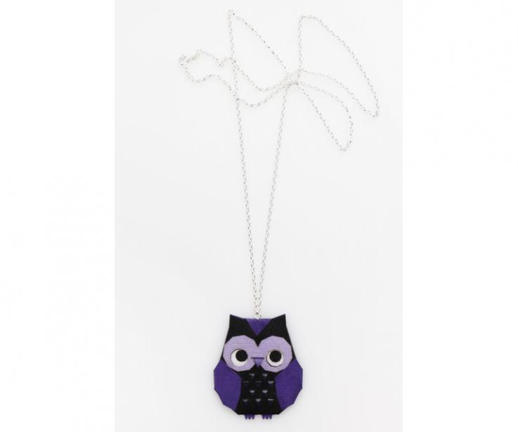 Purple origami owl necklace