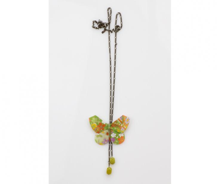 Elegant butterfly necklace for women, front view