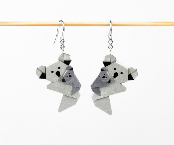Adorables koalas de papel, los pliegues minuciosos dan forma a este símbolo de ternura a un precio realmente económico.
