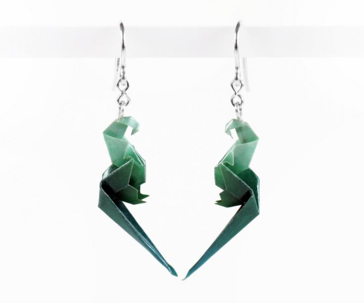 Exotic paper parrot earrings for girl