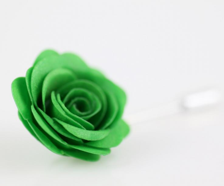 Original rose brooch with paper