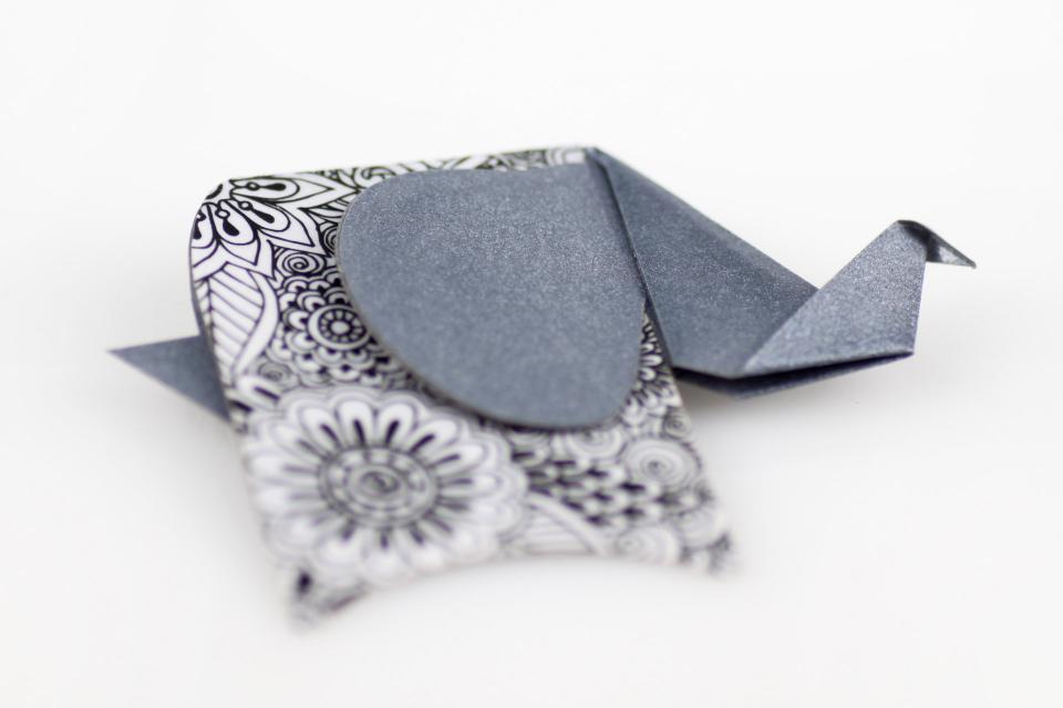 Silver-shaped elephant brooch