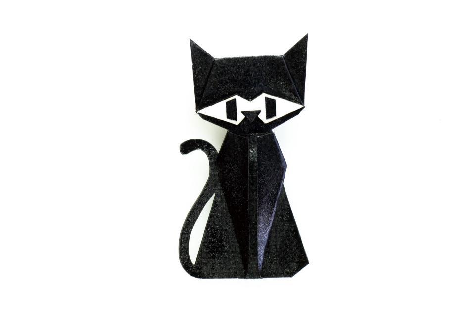 Broche con forma de gato en color negro