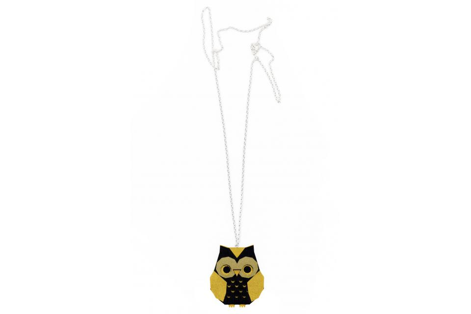 Golden Origami Owl Necklace