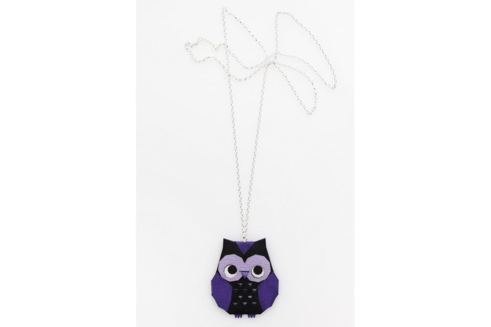 Purple origami owl necklace