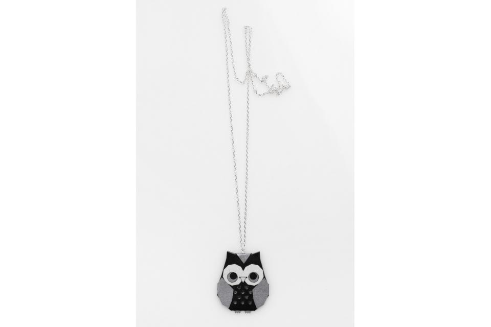 Silver origami owl necklace