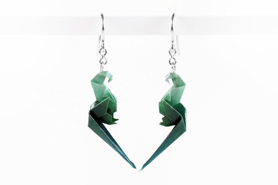 Exotic paper parrot earrings for girl