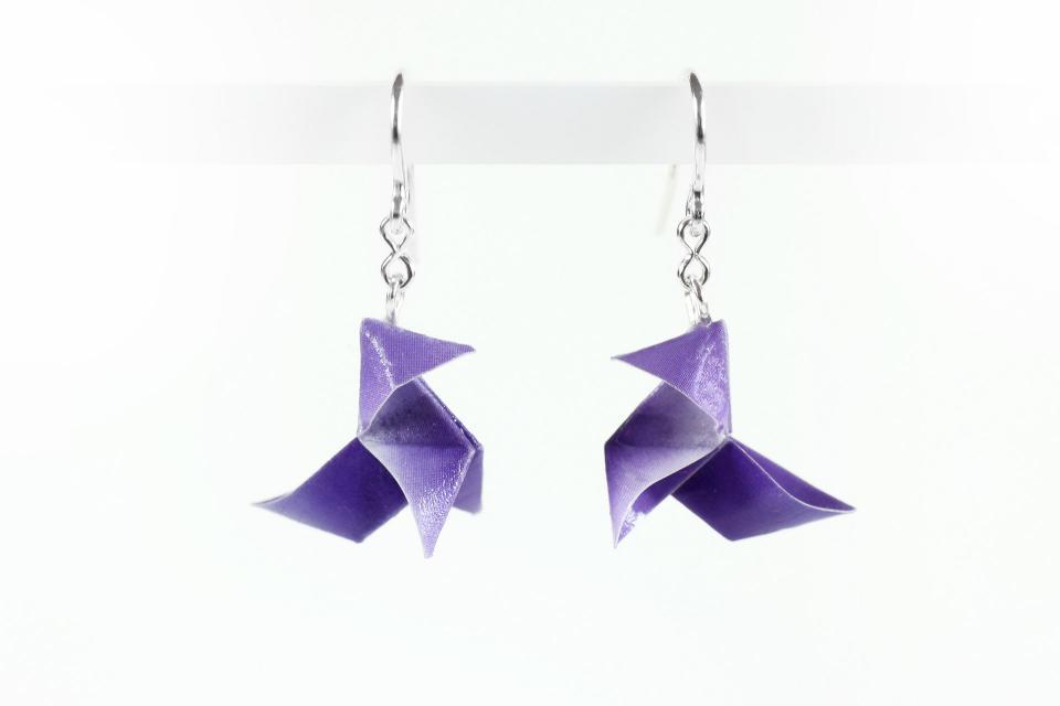 Youth origami bird earrings