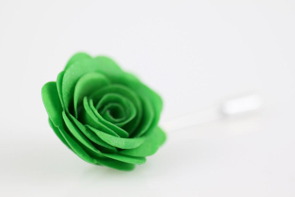 Original rose brooch with paper