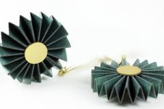 Galician design jewellery, creative Origami. Treated paper resistant to shocks and water
