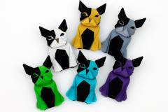 Set of dogs in multiple colors