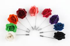 Rose-shaped brooches for party