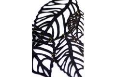 Accesorio mujer collar creativo de hojas de papel, vista trasera
