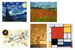 Kandinsky, Monet, Van Gogh, Mondrian and Klimt. Artists honored for Joyas de Papel. Origami jewellery creation