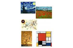 If you like art, this is your ideal jewel. Pieces with prints of solemn artists