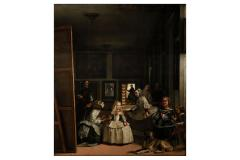 Work that inspired the design of the pieces of the set of pendant, earrings and brooch Las Meninas by Velázquez. Baroque icon of naturalness and Spanish realism