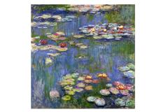 Claude Monet's water lilies, painted with oil on canvas