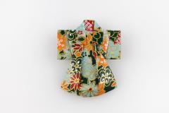 Origami kimono pin for women, front view
